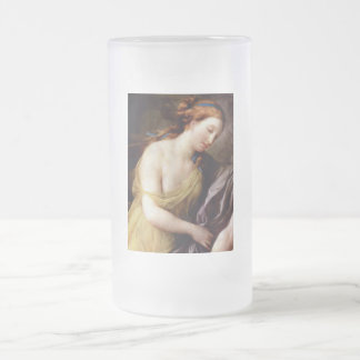 Perseus and Andromedar detail Frosted Glass Beer Mug