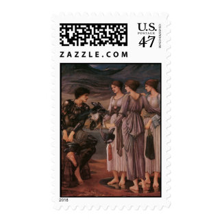 Perseus and the Sea Nymphs by Burne-Jones Stamp