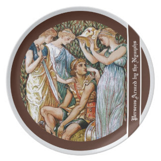 Perseus armed by the Nymphs Melamine Plate