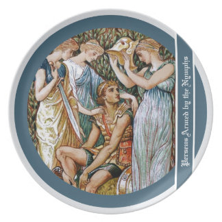 Perseus armed by the Nymphs Plate