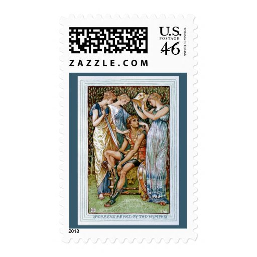 Perseus armed by the Nymphs Stamps
