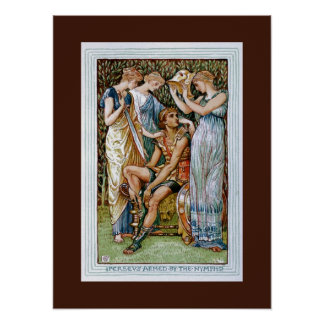 Perseus armed by the Nymphs Poster