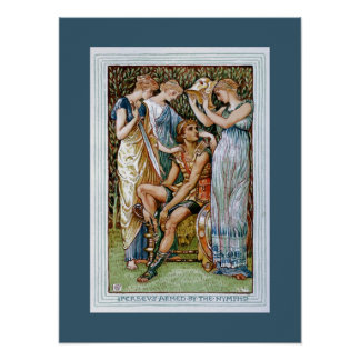 Perseus armed by the Nymphs Print