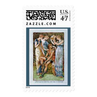 Perseus armó por las ninfas estampillas