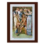 Perseus armó por las ninfas tarjetas postales