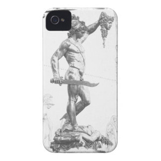 Perseus con el jefe de la medusa iPhone 4 Case-Mate carcasa