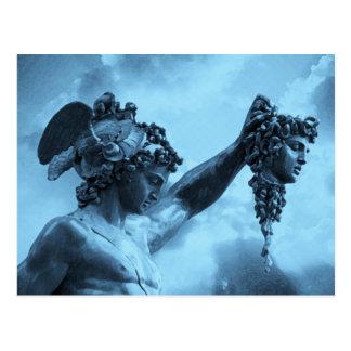 Perseus contra medusa tarjeta postal