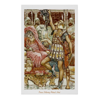 Perseus Delivering Medusa's Head Poster