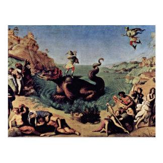 Perseus Freed Andromeda By Piero Di Cosimo Postcard