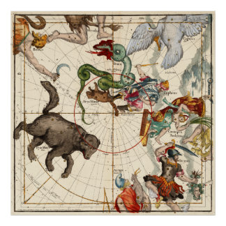 Perseus, Hércules, Cassiopea y Andromeda Póster