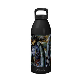 Perseus Man Dragon Fight Sword Painting Water Bottles