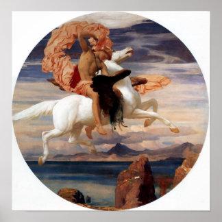 Perseus On Pegasus Print