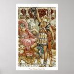 Perseus que entrega la cabeza de la medusa posters