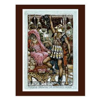 Perseus que muestra la cabeza del Gorgon Postales
