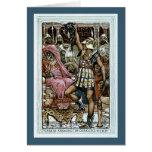 Perseus que muestra la cabeza del Gorgon Tarjeta De Felicitación