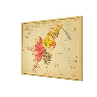 Perseus - Vintage Astronomical Star Chart Image Canvas Prints