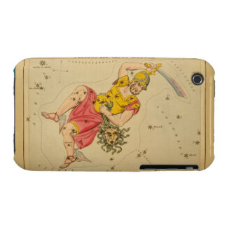 Perseus - Vintage Astronomical Star Chart Image iPhone 3 Case-Mate Cases