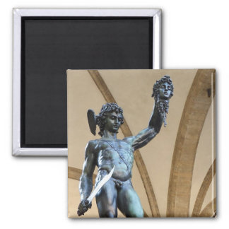 perseus with the head of medusa 2 inch square magnet