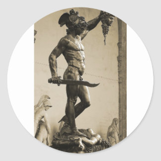 Perseus with the head of Medusa Classic Round Sticker