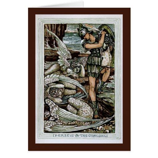 Perseus y el Gorgons Tarjeta De Felicitación