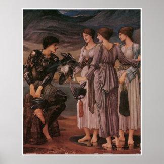 Perseus y las ninfas de mar de Burne-Jones Póster