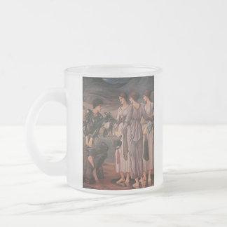 Perseus y las ninfas de mar taza de cristal