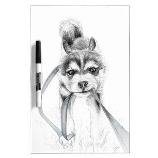 Perseverance, A Siberian Husky Dry-Erase Board
