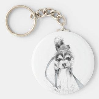 Perseverance, A Siberian Husky Keychain