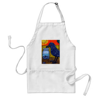 Perseverance Crow Adult Apron