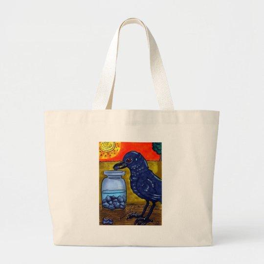 Perseverance Crow Large Tote Bag