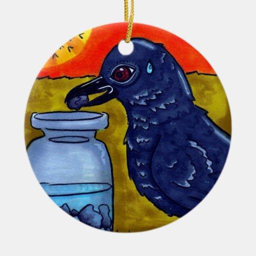 Perseverance Crow Ornament