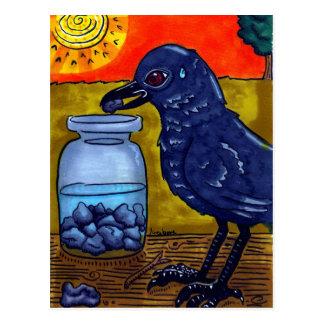 Perseverance Crow Postcard