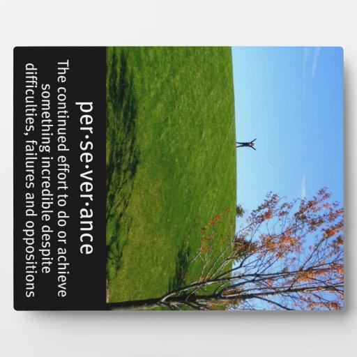 Perseverance definition picture plaque zazzle - Plaque de finition ...