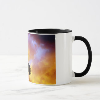 Perseverance - Eagle In Firey Clouds Mug - 1