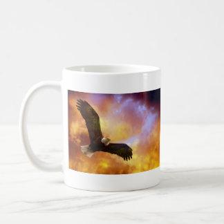 Perseverance - Eagle In Firey Clouds Mug - 2