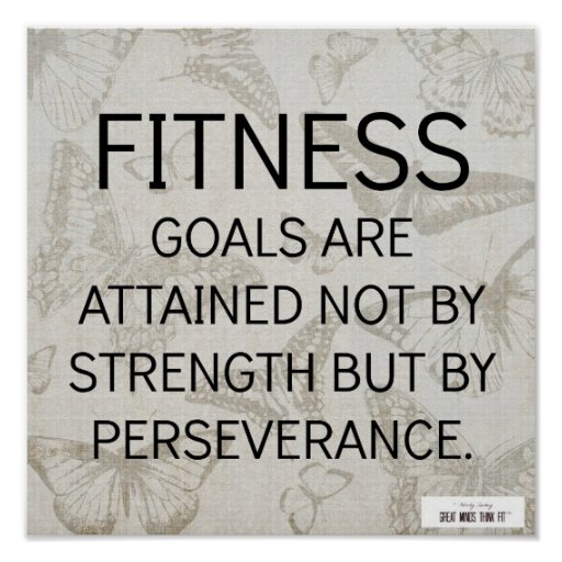 Perseverance for Fitness Success Poster