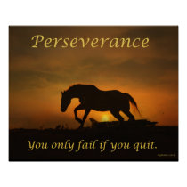 Perseverance Horse Poster