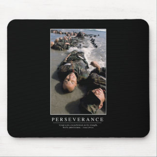 Perseverance: Inspirational Quote Mouse Pad