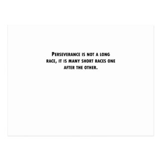 Perseverance Is Not A Long Race Post Card
