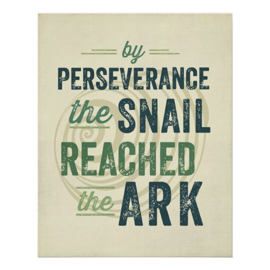 Persistence Motivational Quotes: Perseverance Poster
