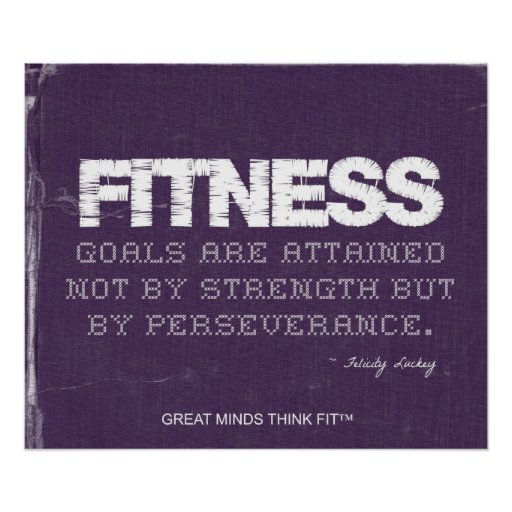 Perseverance Poster for Fitness Success