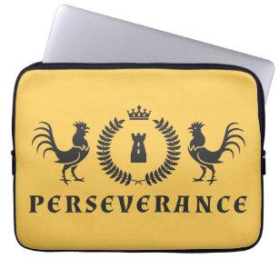 Perseverance Roosters Blazon Laptop Sleeve