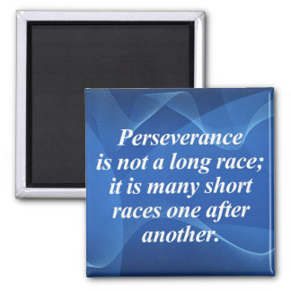 Perseverence 2 Inch Square Magnet