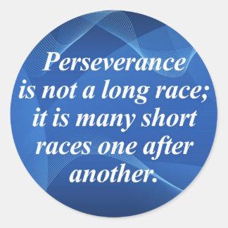 Perseverence Pegatina Redonda