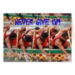 Perseverencia de la demostración de los Rowers de  Felicitación