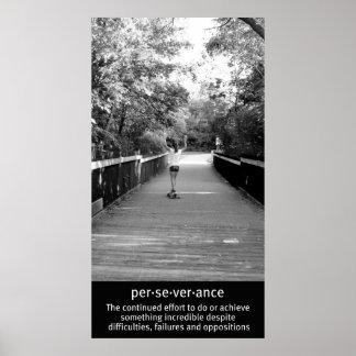Perseverencia de Longboard del chica Impresiones