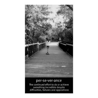 Perseverencia de Longboard del chica Póster