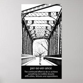 Perseverencia de Longboard Poster