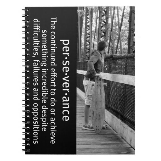 Perseverencia de Longboard Spiral Notebook