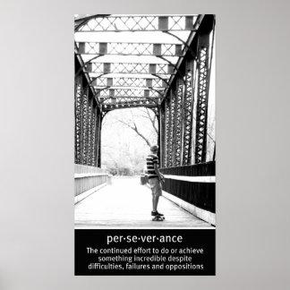 Perseverencia de Longboarding Póster